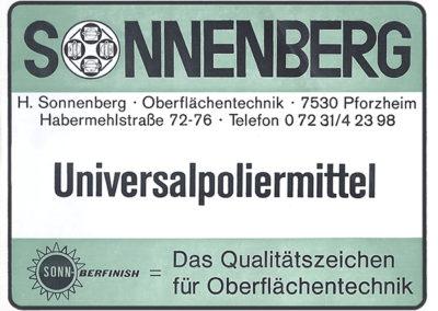 Universalpoliermittel Anzeige Herbert Sonnenberg
